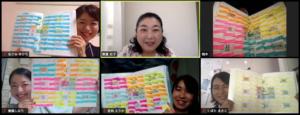 timemanagement dreamcompass postit onlinemorningsemminer tactics goal achievement corching sticker morning activity priority efficiency kaizen